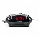 Radiowecker von Dunlop, 10 Speicherplätze, Snooze-Taste, Sleep-Funktion, modernes Design, Farbe Schwarz