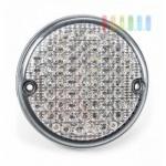 Rückfahrscheinwerfer / Arbeitsscheinwerfer von ALL Ride mit 63 weißen LEDs, wasserdicht, Kabel vormontiert, rund, Durchmesser ca. 14 cm, 24V/DC