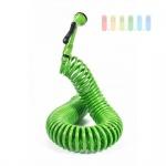 Spiral-Schlauch-Set von Lifetime Garden mit Multisprühkopf und Schlauchverbindern, Länge 15 m, Farbe Grün