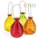 Insektenfalle/Wespenfalle zum Hängen oder Stellen aus Glas, giftfrei, wieder verwendbar, 20 cm, lieferbar in den Farben Rot, Gelb, Grün oder Orange