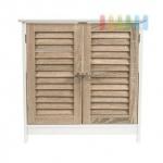 Waschbecken-Unterschrank von Homestyle, 2 Türen, Lamellenfronten, modernes Design, Maße ca. 84 x 67, 5 x 31 cm