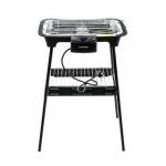 Elektrogrill von Cuisinier Deluxe, Thermostat, Kontrollleuchte, Ablage, rauchfrei, vielseitig, schwarz, Größe 44 x 29 x 69 cm, 2000W