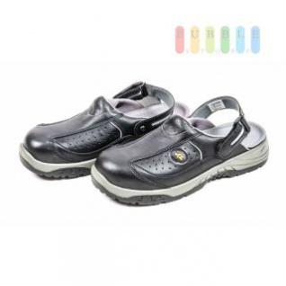 EuroRoutier Sicherheits-Sandale Trendy Black, atmungsaktiv, lieferbar in den Größen 40-47