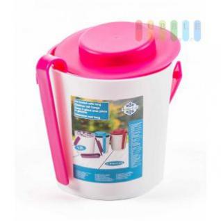 Eiskübel von Fresh & Cold mit Zange, Henkel und Deckel, doppelwandig, Größe ca. 16, 2 x 14 cm, 3 Farbkombinationen verfügbar - Vorschau 2