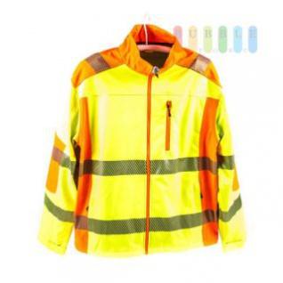 Sicherheits-Softshell-Jacke, entspricht EN ISO 20471/2013, wasserabweisend, atmungsaktiv, winddicht, gelb, lieferbar in den Größen L bis 4XL