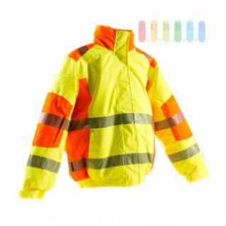 Sicherheits-Piloten-Jacke von Terratrend, entspricht EN ISO 20471/2013, wasserabweisend, warm gefüttert, winddicht, waschbar, gelb/orange, lieferbar in den Größen M bis 4x XL