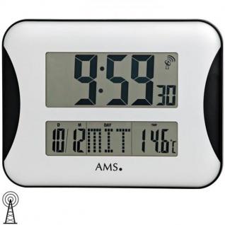 AMS 5894 Wanduhr Tischuhr Funk digital mit Datum Thermometer