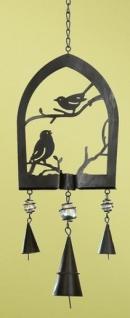 GILDE Windspiel Vögel aus Metall, 15 x 65 cm