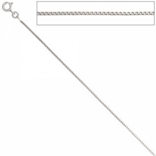 Venezianerkette 585 Weißgold 0, 9 mm 38 cm Gold Halskette Federring