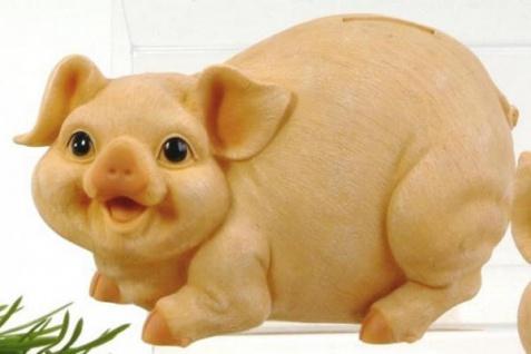 formano Spardose Sparschwein naturfarben, nach links schauend, 20 cm