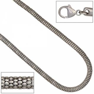 Armband 925 Silber rhodiniert 19 cm Karabiner