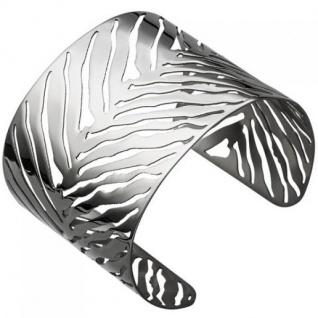 Armspange, offener Armreif aus Edelstahl Armband breit