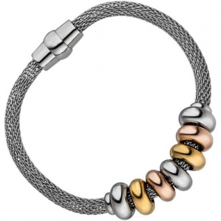 Armband Edelstahl bicolor beschichtet 18 cm mit Magnetverschluss