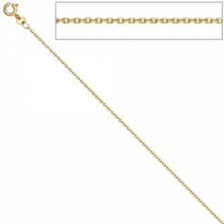 Ankerkette 333 Gelbgold 1, 2 mm 38 cm Gold Kette Halskette Federring