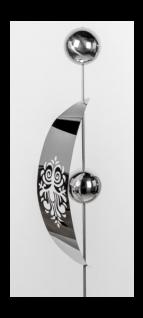 formano Gartenstecker aus Edelstahl Bogen mit Kugeln, 20 x 160 cm
