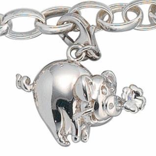 Einhänger Charm Glücksschwein 925 Sterling Silber Glücksbringer - Vorschau 2