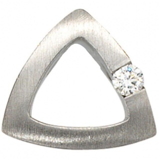 Anhänger 950 Platin mattiert 1 Diamant Brillant 0, 08ct. PlatinAnhänger