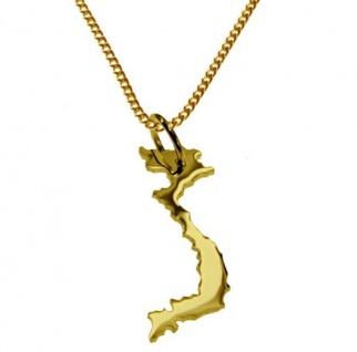VIETNAM Kettenanhänger aus 585 Gelbgold mit Halskette