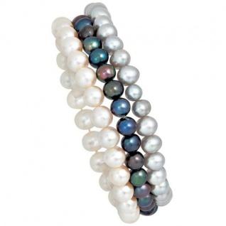 Perlenarmbänder 3er Set Süßwasserperlen Armband endlos