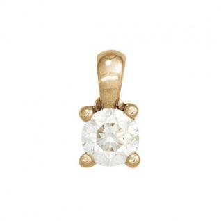 Anhänger 585 Gelbgold mit 1 Diamant Brillant 0, 25ct. Solitär
