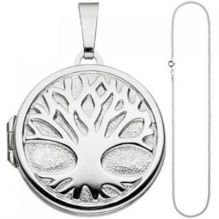 Medaillon Anhänger Baum des Lebens rund 925 Silber mit Kette 60 cm - Vorschau 2