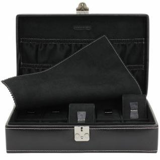 Friedrich Lederwaren Uhrenkoffer Uhrenbox Leder schwarz für 10 Uhren