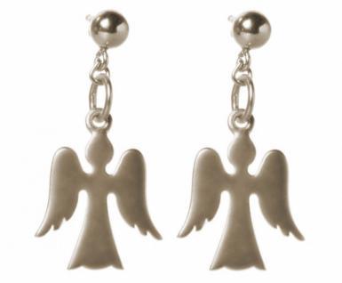 Gemshine Damen Kinder Ohrringe 925 Silber Engel 2 cm