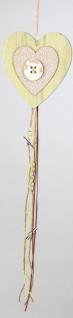 formano Dekohänger Herz in Grün mit Blümchen aus Holz, 68 cm