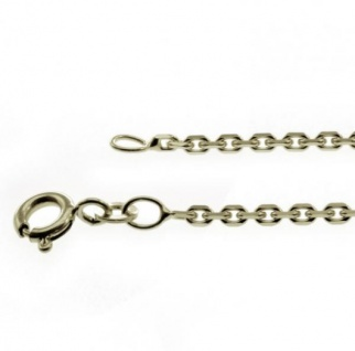 45 cm Ankerkette - 333 Weißgold - 1, 9 mm Halskette