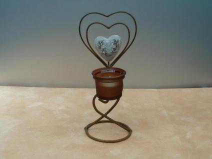 Teelichthalter Herz - ca. 24, 5 cm hoch
