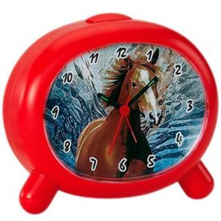 Atlanta 1183/1P Wecker Kinderwecker Pferd rot Pferdewecker für Kinder - Vorschau