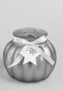 formano Deko Windlicht Winterzeit aus Glas, 11 cm