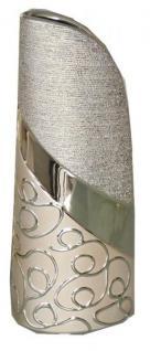 Moderne Vase Stella aus der Champagner Keramik Serie, 36 cm