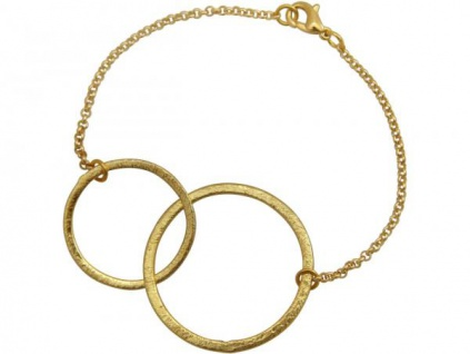 Armband Eternity Kreise Infinity Minimalistisch Design Gold