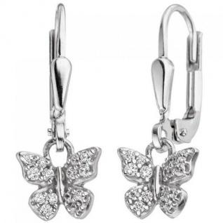Kinder Ohrhänger Schmetterling 925 Silber mit Zirkonia Kinderohrringe