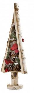 Birken-Deko Weihnachtsbaum Weihnachtsdekoration aus Birkenholz Christbaum Adventsdeko Birkenbaum Tannenbaum Natur-Deko naturbelassen 41cm