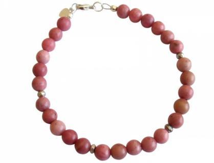 Gemshine Armband Rhodonit rosa 925 Silber