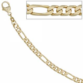 Figaroarmband 585 Gold Gelbgold 21 cm Armband Karabiner