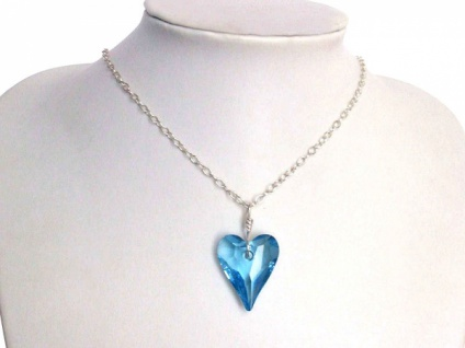 Wild Heart Herz Halskette 925 Silber-WITH SWAROVSKI ELEMENTS®