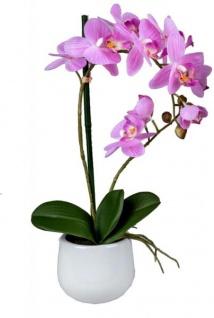 Wunderschöne Orchidee im Porzellantopf, rosa, 48 cm