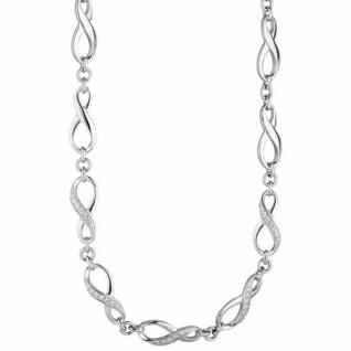 Collier Halskette Unendlich 925 Silber mit Zirkonia 48 cm Silberkette