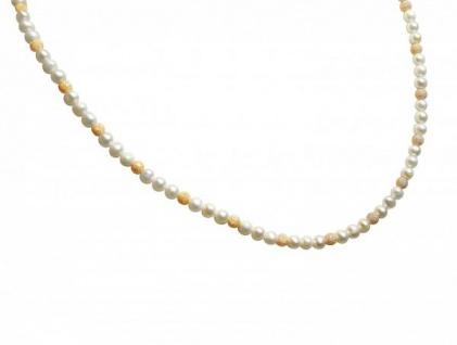 Gemshine Damen Halskette Zuchtperlen Weiß Vergoldet 45 cm
