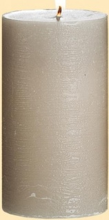 GILDE Stumpenkerze sand, 67 Stunden, 6, 8 x 12, 5 cm