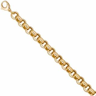 Erbsarmband 925 Sterling Silber gold vergoldet 21 cm - 10, 2 mm