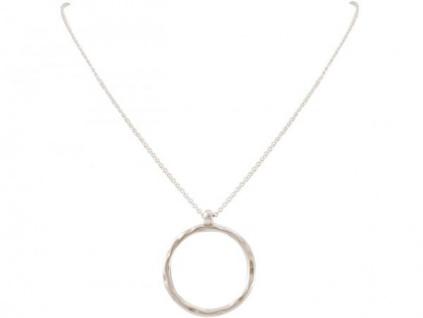 Halskette Anhänger Eternity Kreis Geometrisch Design Silber 45 cm