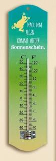 Thermometer, Metall nach dem Regen kommt wieder Sonnenschein 27cm