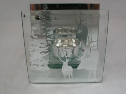 Teelichthalter Winter aus Glas