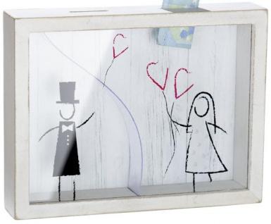 Spardose Hochzeitspaar weiß 17 cm