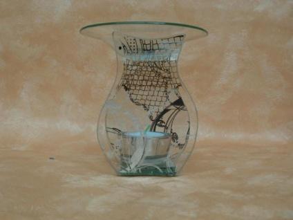 Duftlampe, Flasche aus Glas, 12 cm
