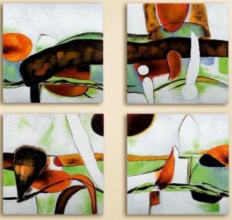 GILDE Wandbild Espressione handgemalt auf Leinen, 4 tlg, 240 x 60 cm